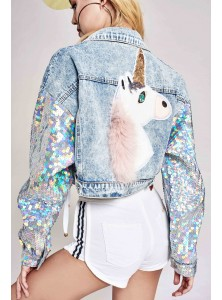 Arena Unicorn Applique Jacket